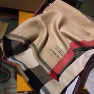 Burberry Classic Plaid Silk Scarf
